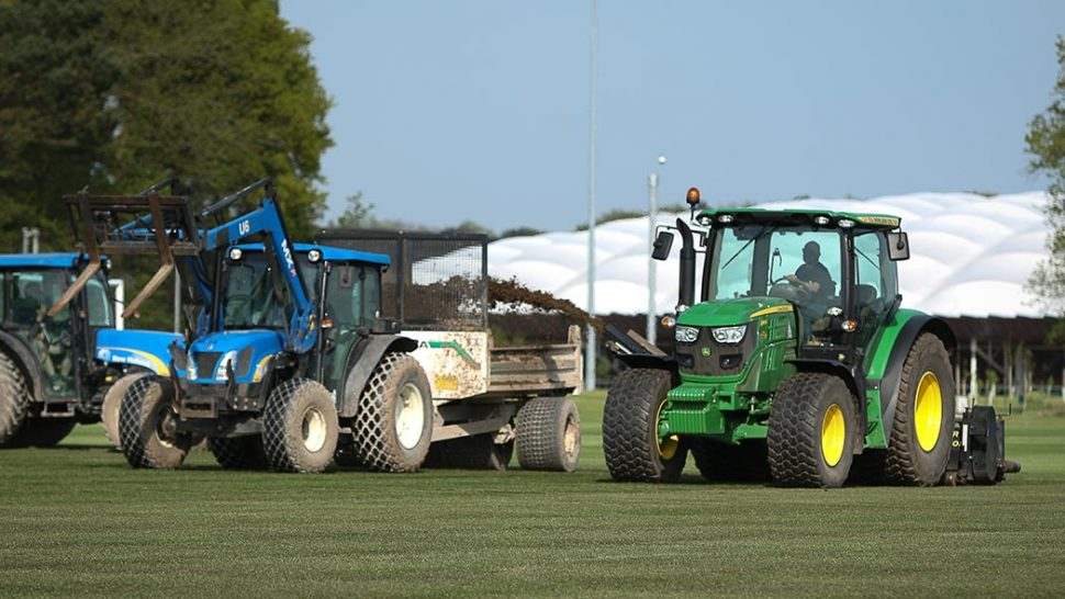 pitch renovation at the home of the fa