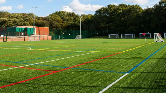 red lines, white lines, MUGA, Multi use games area, sports, design, manufacture