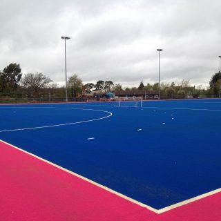 Pink pitch, blue grass, Phoenix Hockey Club , SISTurf, synthetic, pitch, sand dressed, fields,