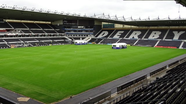 Derby County, SIS Pitches, football pitch, hybrid pitch, reinforced natural turf, fast pitch installation