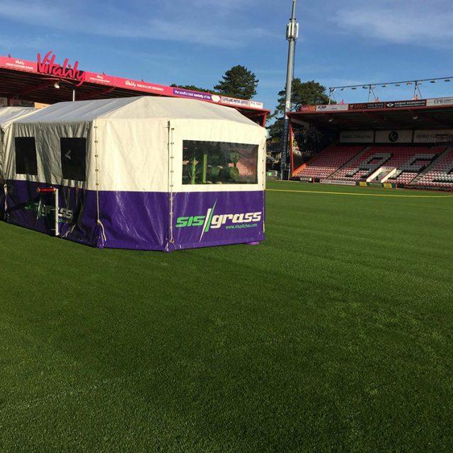 SISGrass, Hybrid pitch, grass, reinforced grass, hybrid technology, AFC Bournemouth