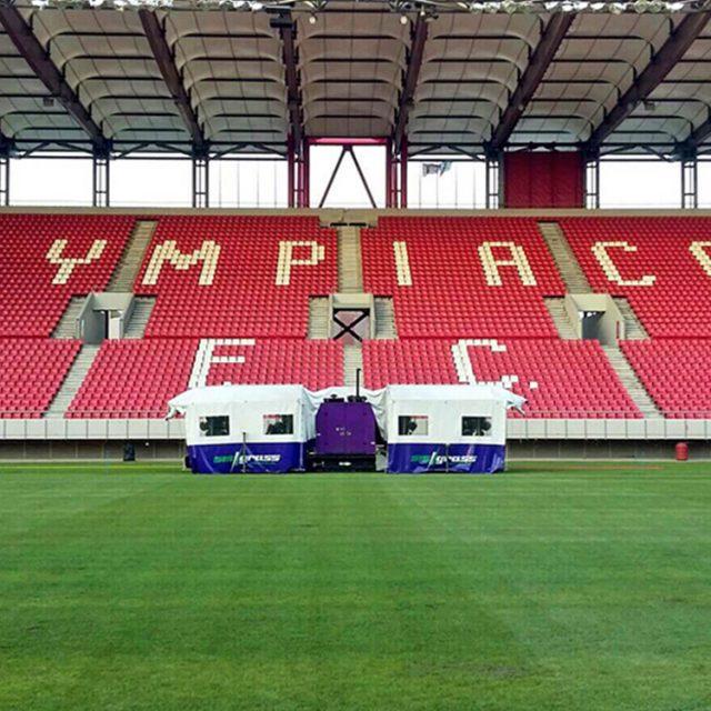 SISGrass, Hybrid pitch, grass, reinforced grass, hybrid technology, Olympiacos Georgios Karaiskakis