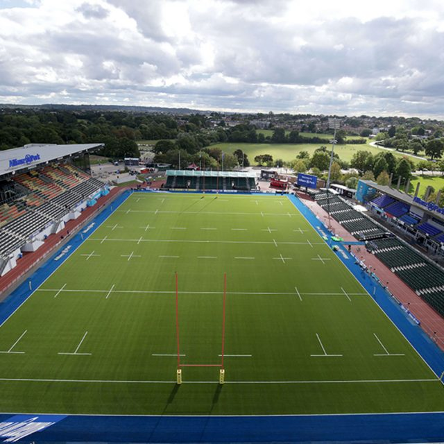 Saracens, SIS Pitches, rugby pitch, blue grass, coloured pitch, synthetic pitch, artificial turf