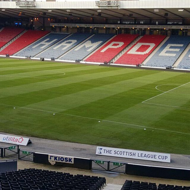 Hampden 2014, natural turf pitch, sis pitches, football pitch