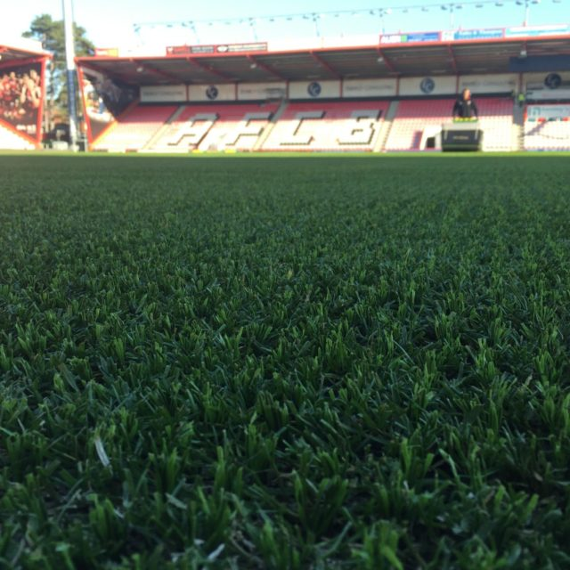sis pitches, A.F.C Bournemouth, sisgrass, hybrid turf, football pitch