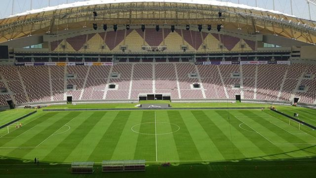 Qatar's Khalifa International Stadium, Amsterdam arena, FIFA 2022 World Cup in Qatar, SIS Pitches
