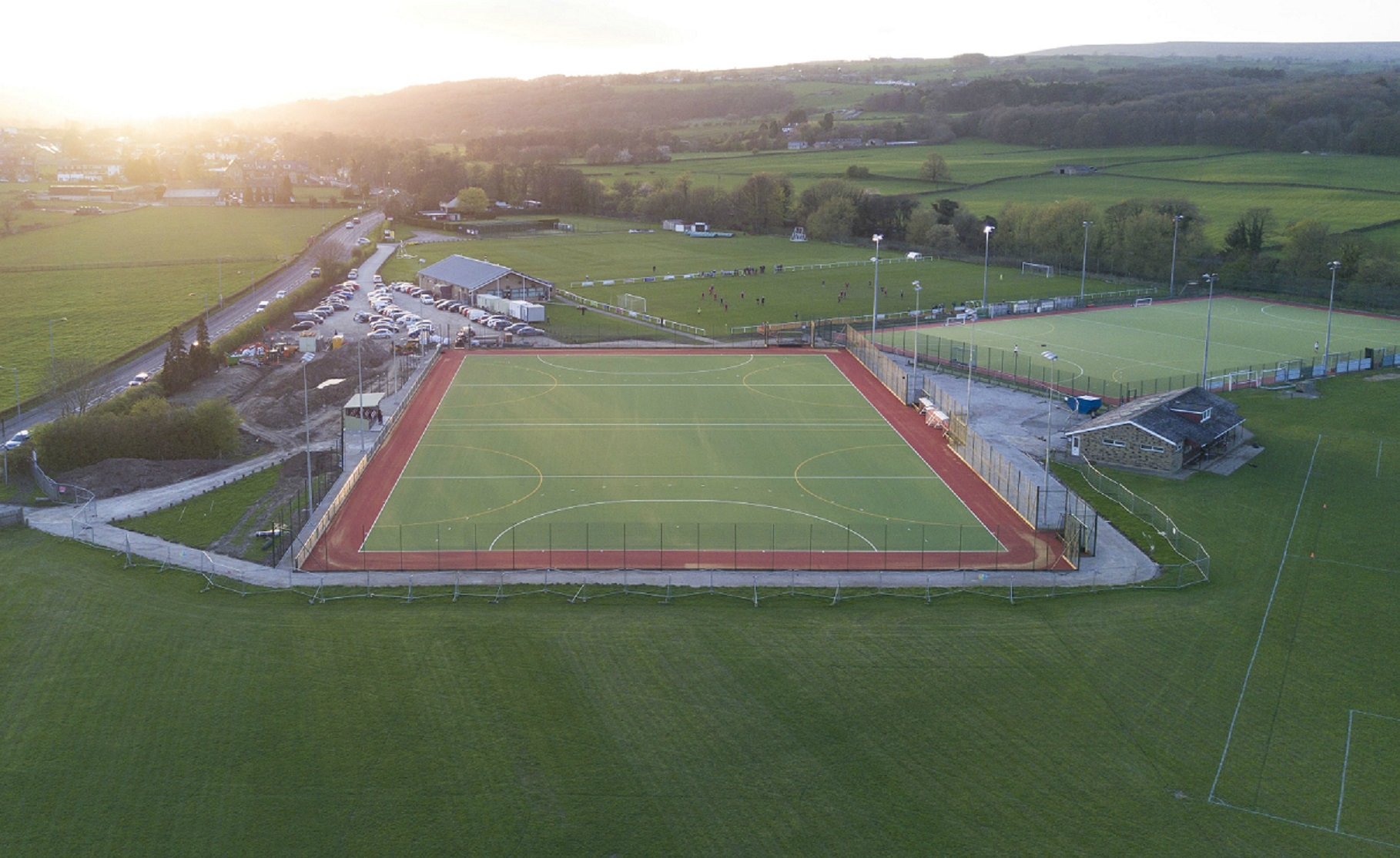 SIS Pitches work at Ben Rhydding Hockey Club