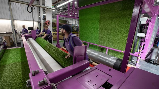 synthetic grass production