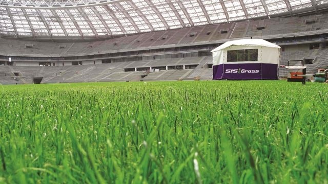Luzhniki SISGrass hybrid pitch installation
