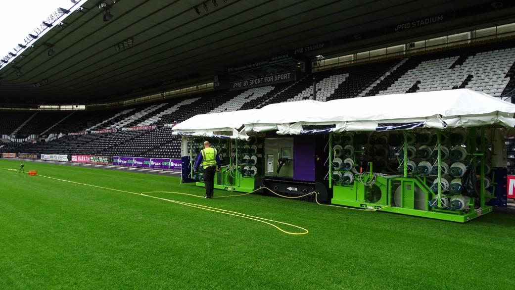 Hybrid pitch, grass, reinforced grass, hybrid technology,