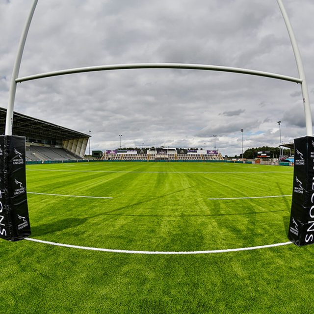 Synthetic, sisturf, grass, artificial pitch, field, Newcastle Falcons, rugby posts