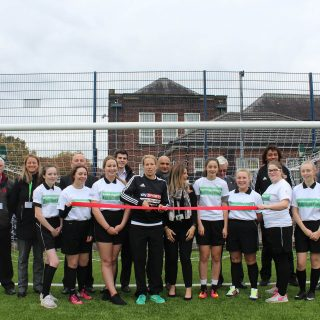 opening, ribbon cutting, Flixton Girl School, schools, colleges, hockey, football, rugby, multiple sports