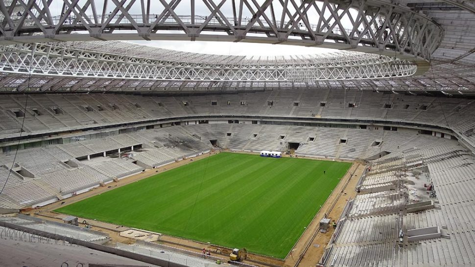 Luzhniki Stadium, 2018 World Cup Final, Moscow Russia, SISGrass, reinforced natural turf, hybrid pitch
