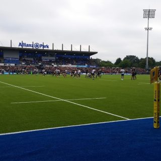 blue pitch, Saracens, rugby, turf, pitch, union, league, world rugby