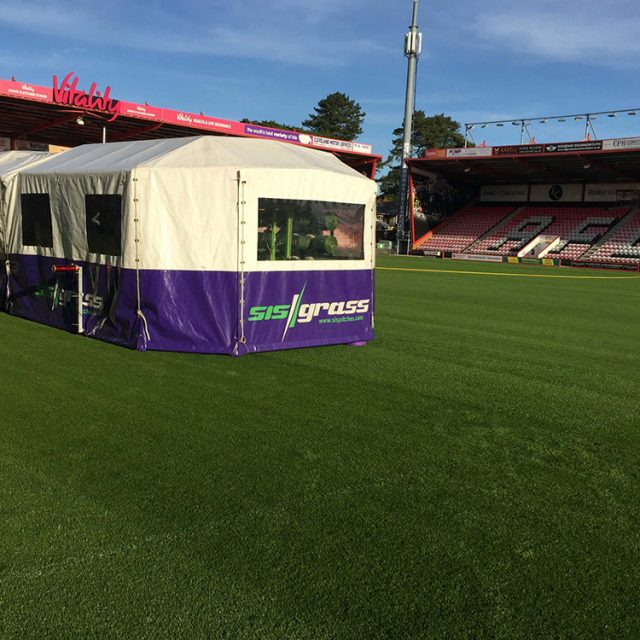 SISGrass, Hybrid pitch, grass, reinforced grass, hybrid technology, AFC Bournemouth