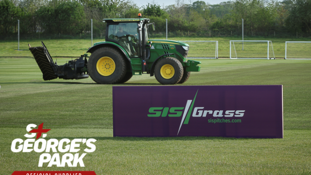 SISGrass pitch, St George's Park, premier pitches, hybrid turf, reinforced natural turf