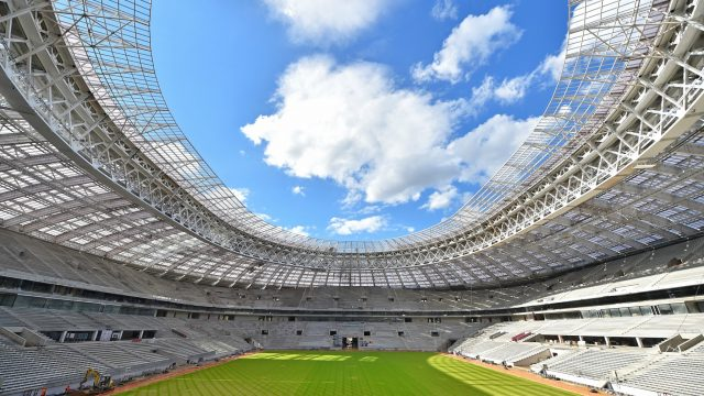 Russia at Luzhniki Stadium, 2018 World Cup, SISGrass, hybrid technology, SISAir, reinforced natural turf pitch, SIS Pitches