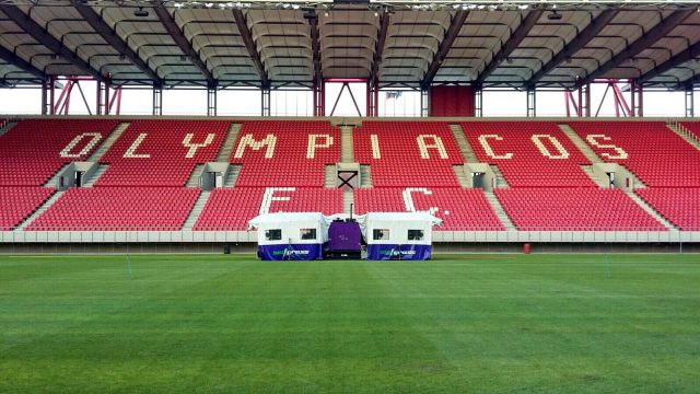 GEORGIOS KARAISKAKIS STADIUM, SISGRASS TECHNOLOGY, Olympiacos FC, Europa League, SISGrass, hybrid pitch