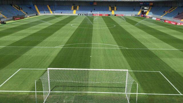 Dalga Arena in Baku, synthetic pitch, artificial turf, SIS Pitches, Azerbaijan