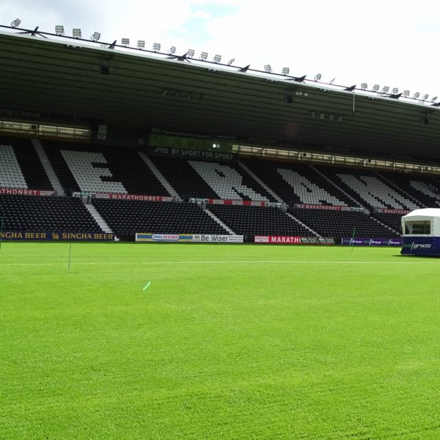 Derby County, Sky Bet Championship, Ipro stadium, SISGrass, Hybrid turf, Football club