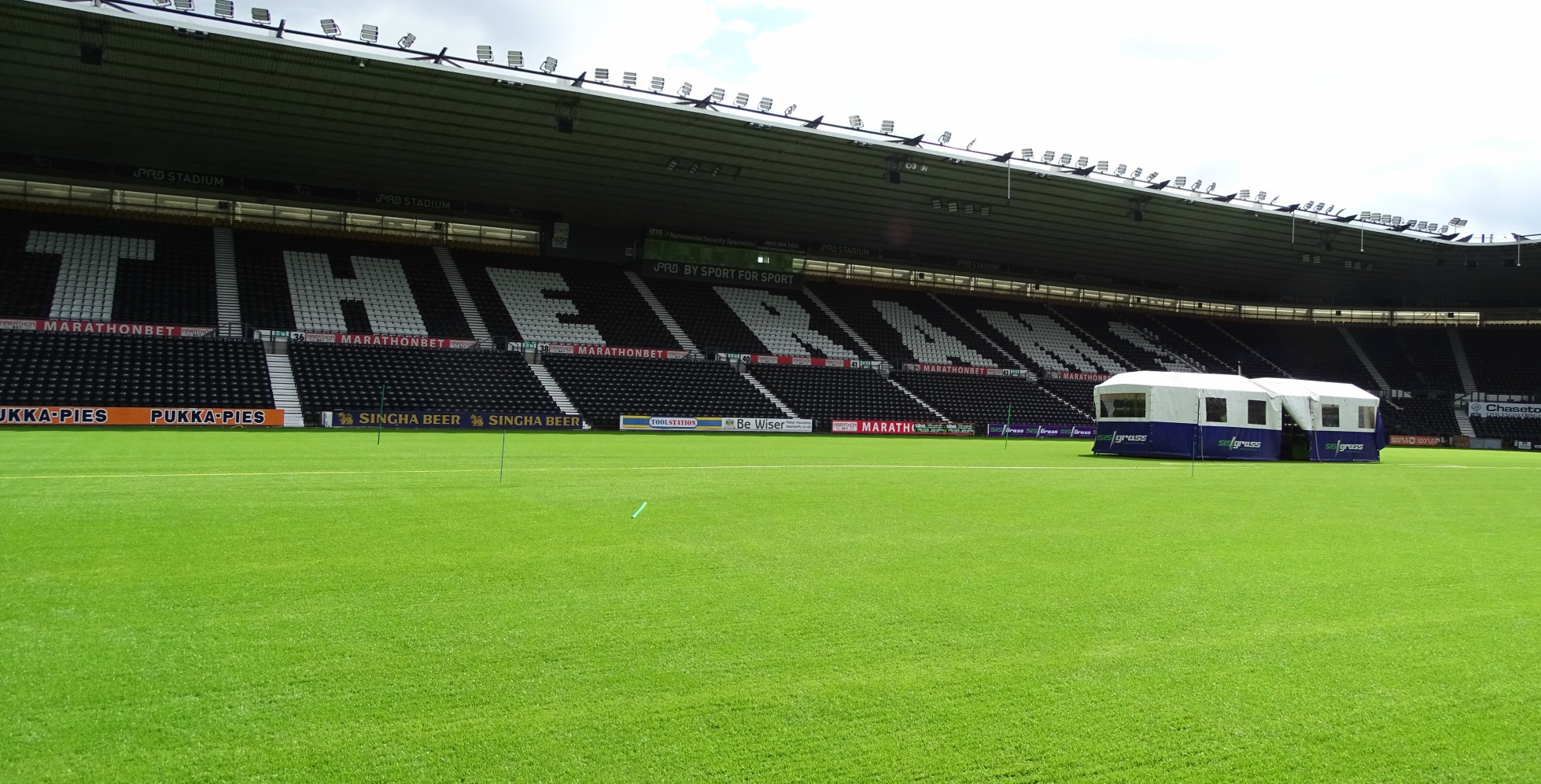 Derby County Boast Most Technologically Advanced Pitch in UK