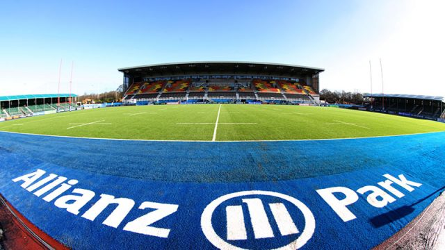 SIS Pitches, Saracens, Alianz park, Aviva Premiership and European Rugby Champions Cup holders, blue turf, coloured pitch, SISTurf