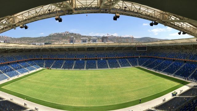 Sammy Ofer Stadium, Haifa International Stadium, SISGrass, Hybrid grass, synthetic pitch surrounds