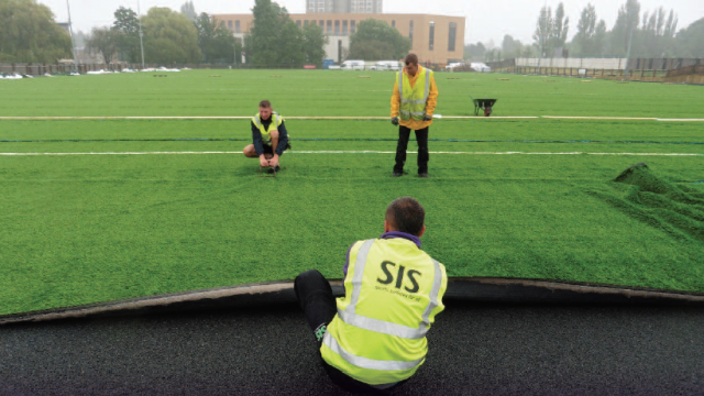 install synthetic turf, artificial turf, laying grass