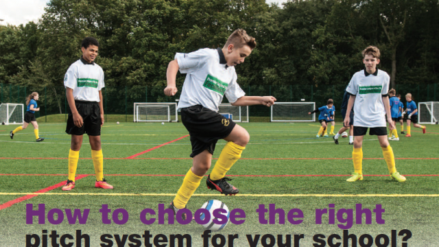 How to choose the right pitch system for school, university synthetic pitch, school artificial grass