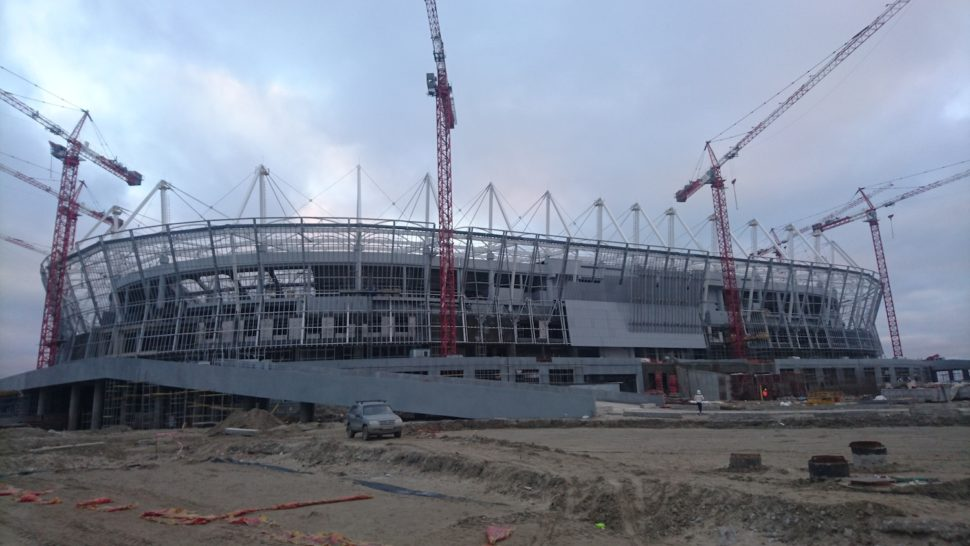 2018 World Cup in Russia, Rostov Arena, SISGrass, Hybrid pitch, reinforced turf system