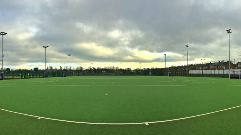Manchester University, Fallowfield Campus, rugby pitch, hockey pitch, synthetic turf, artificial grass