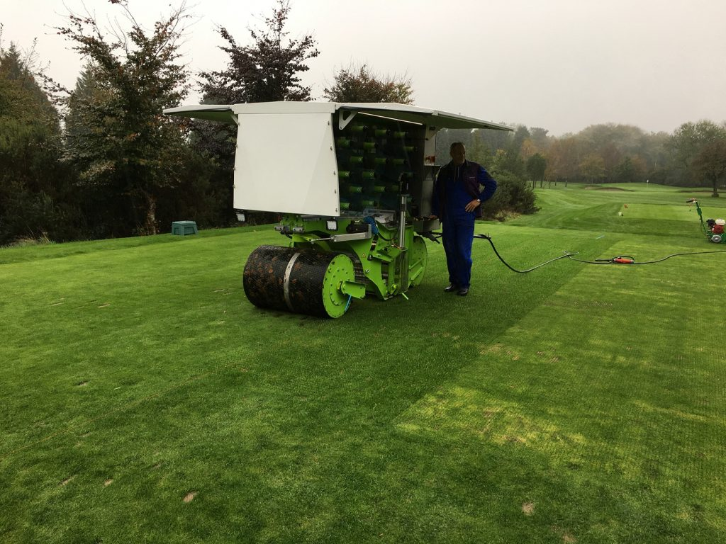 Our SISGrass Universal machine in action