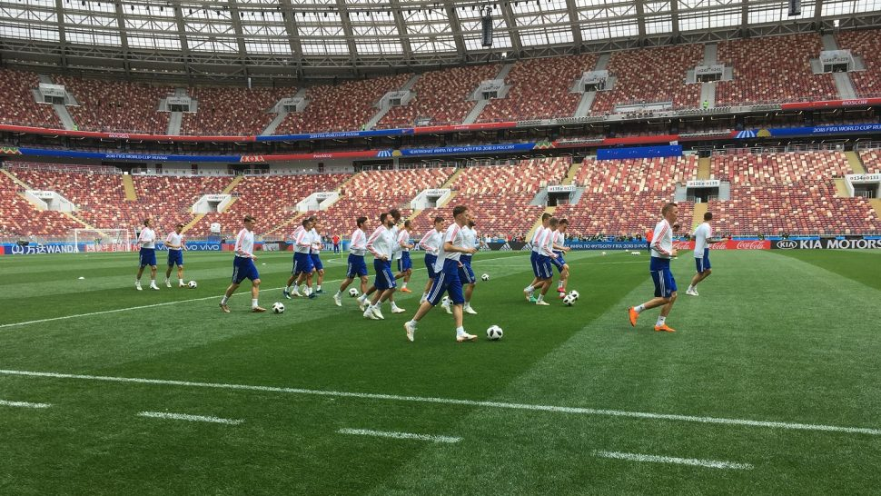 SISGrass hybrid pitch Luzhniki World Cup 2018