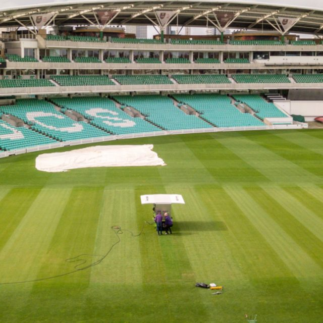 Cricket Wicket hybrid surface installation