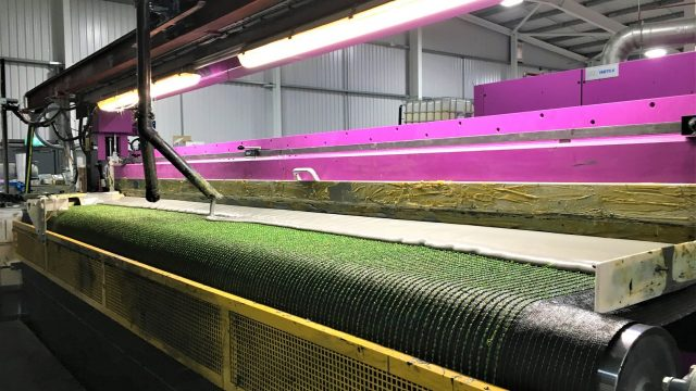 polyurethane (PU) backing line; synthetic grass production
