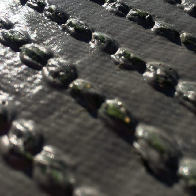 turf backing system, polyurethane coating
