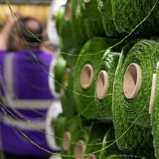 artificial grass synthetic turf factory yarn