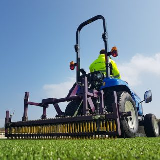 pitch maintenance brushing