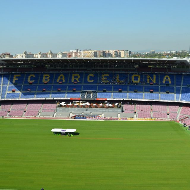 SISGrass electric machine at FC Barcelona
