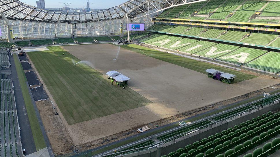 Aviva stadium SISGrass hybrid installation