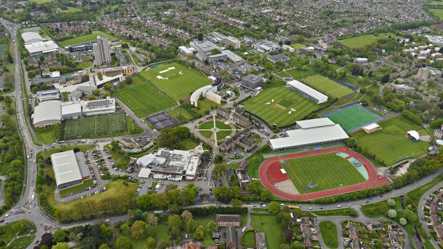 Loughborough University Campus Aerial Views SIS Pitches