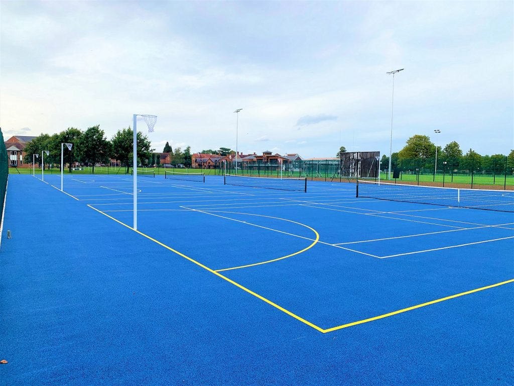 Warwick school tennis court SIS Pitches